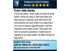 I love this place. They make me feel at ease when I bring my dog in. Not only does my dog...