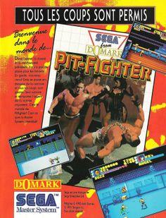 """Pit-Fighter for Master System (France, Domark, June 1993) - """"No holds barred"""""""