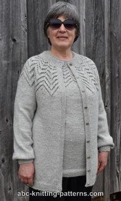 6d27f96518f61 ABC Knitting Patterns - Starburst Lace Yoke Cardigan