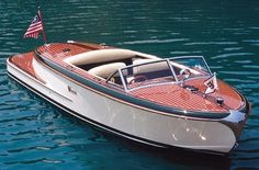 New boat. Classic, vintage style.