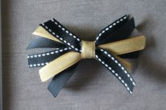 Black and Gold UCF Knights Bow, University of Central Florida