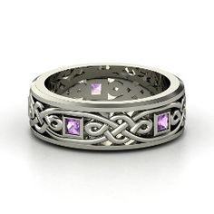 Alhambra Knot Band, from Gemvara - I picked sterling silver and amethyst. (you can make it really expensive w/ gold, platinum, etc and precious-er stones.  says it's a boys ring but WHAT?!?!    Who is going to show jay?