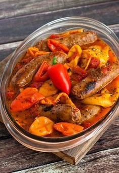 Teri's Pressure Cooker Sausage and Peppers recipe on Pressure Cooking Today.