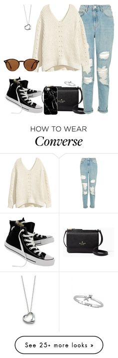 """""""Untitled #314"""" by findthefinerthings on Polyvore featuring Kate Spade, Topshop, Converse, Recover, Elsa Peretti and Ray-Ban"""