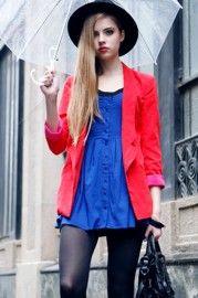 Tube Style Blue Strap Dress  $43.99  romwe.com #Romwe