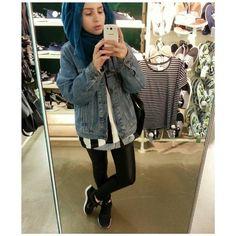 Oversized Denim Jacket Hijabi Style Hijab Fashion Hijab Outfit