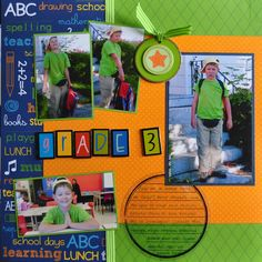 Scrapbook layout school....add a page for each grade