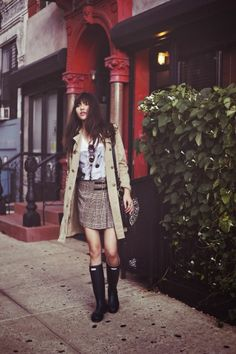 Natalie Off Duty is rainy day chic in our Original Tall
