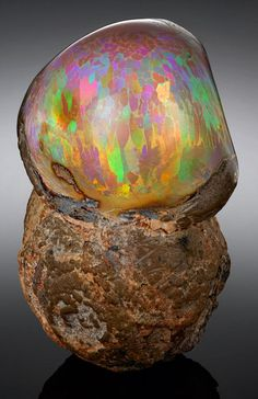 Ethiopian Mezezo Chocolate Opal Specimen. This and more rare gemstones for sale on CuratorsEye.com.