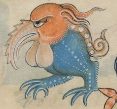 Detail from The Luttrell Psalter, British Library Add MS 42130 (medieval manuscript,1325-1340), f145r