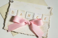 Handmade Cards, Dance, Ballet, Greeting Cards, Pink, Shabby Chic, Embellished on Etsy, $10.00