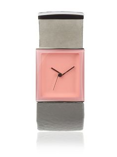 55% OFF Philippe Starck Women's PH7001 Tailgate Analog Pink and Grey Leather Watch