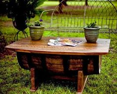 "wine barrel coffee table | ""fashion, gifts & foods - that i love"