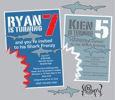 More invitations- shark theme