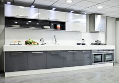 Modular kitchen design becomes a style affirmation of new kitchen design and contemporary design for modern house. Here we give you some best ideas! Kitchen Cupboard Designs, Kitchen Room Design, Home Decor Kitchen, Interior Design Kitchen, Home Kitchens, New Kitchen Designs, Home Design, Contemporary Kitchen Cabinets, Modern Kitchen Interiors