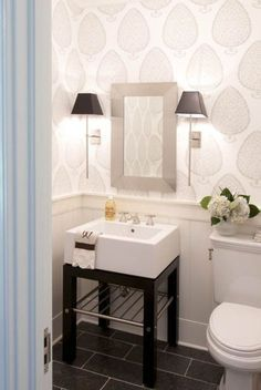 toronto jonathan adler room with modern wall powder room contemporary and .toronto jonathan adler room with modern wall powder room contemporary and mosaic adler jonathan with modern mosaic toronto Restoration accessories Hudson Metal Single Extra-Wide Very Small Bathroom, Downstairs Bathroom, Bathroom Renos, Bathroom Ideas, Wood Bathroom, Bathroom Renovations, Bathroom Designs, Bath Ideas, Bathroom Layout