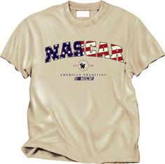 NASCAR American Tradition T-Shirt by Checkered Flag. $14.99. Hey race fans! Looking for a way to show your support for Dale Earnhardt? Look no further than with this t-shirt from Checkered Flag Sports. With a screen printed graphics and rib knit collar, this shirt is the way to go.