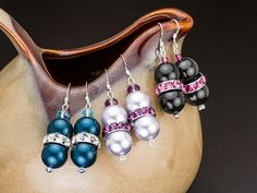 Rondelle Rave Earrings, FREE idea at Artbeads.com