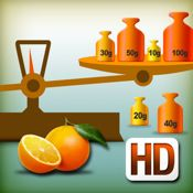 My first weighing exercises HD    Get it on the AppStore: http://itunes.apple.com/us/app/my-first-weighing-exercises/id376179115?mt=8