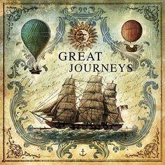 JF_0096_GR3 Cuadro Barco y Globos Vintage _ Great Journeys