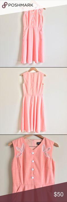Voodoo Vixen Dress M Vintage Style Sleeveless New New with tag Pockets Back Zipper Flowy Voodoo Vixen Dresses Midi