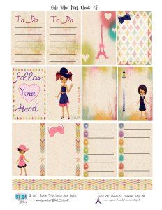 Free Follow Your Heart Planner Stickers