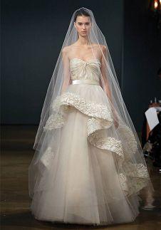 Wedding dress, beautiful veil