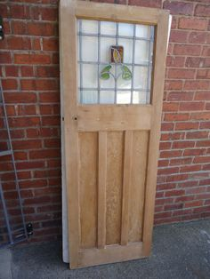 1930s ART DECO INTERNAL DOOR WITH ORIGINAL STAINED GLASS.DN22 Area & Image result for 1930s stripped door | Design Ideas for new house ...