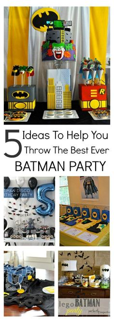 Planning a batman party? This collection of awesome Batman party ideas will pro. Disney Cars Birthday, Batman Birthday, Superhero Birthday Party, Boy Birthday Parties, Diy Birthday, Cake Birthday, Superhero Party Favors, Birthday Ideas, Superhero Classroom