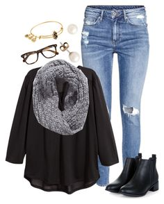 Ootd// half day at school by madelyn-abigail on Polyvore featuring H&M, J.Crew, Alex and Ani, Collection XIIX and Ray-Ban