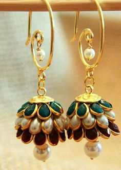 Paachi jhumka for party wear