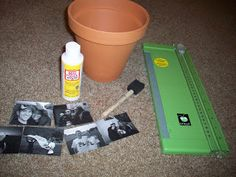Photo Collage Flower Pot: good instructions