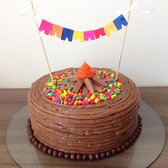 Mesversário Cake: check out 37 creative inspirations - Birthday FM : Home of Birtday Inspirations, Wishes, DIY, Music & Ideas Campfire Cake, Cross Cakes, Shark Cake, Teddy Bear Cakes, Forest Cake, Just Cakes, Cakes For Boys, Sweet Recipes, Cupcakes