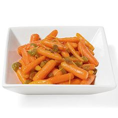 Orange You Happy Carrots (via Parents.com) - veganize by using maple syrup or other sweetener in place of honey. Honey is not vegan despite what other pinterest recipes claim.