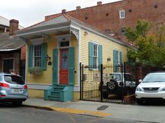 NOLA shotgun style house, French quarter -This house would cost a fortune, it has off street parking and is in the Quarter! Description from pinterest.com. I searched for this on bing.com/images