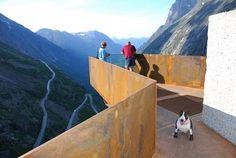 Nasjonale turistveger, Trollstigplatået. Arkitekt: Reiulf Ramstad Arkitekter.