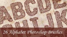 26 Alphabet Photoshop Brushes