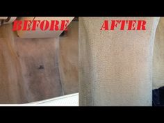 How to clean car carpet and stain on carpet. NO TOOLS! Works excellent!!! Auto carpet cleaning! - YouTube