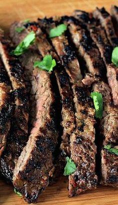 Grilled Skirt Steak Skewers