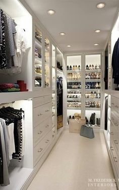 closet, Idea for built in lights, since the closet is so dark