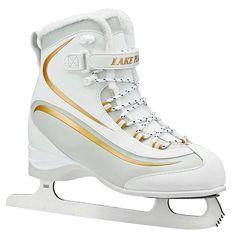 Lake Placid Women's Everest Soft Boot Figure Ice Skates, White