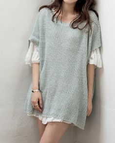 Stylish Scoop Neck Dolman Sleeve Solid Color Sweater For Women