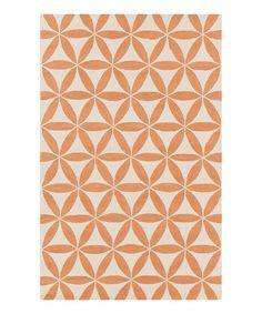 Look what I found on #zulily! Orange Floral Brentwood Rug #zulilyfinds