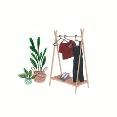 Cápsula Cactus Perchero de ropa Ilustración por Taylor   Etsy