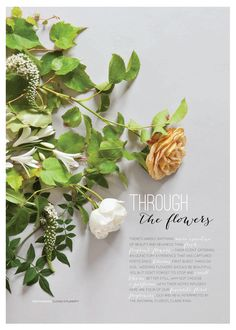 Bash Magazine Photos by Cliona O' Flaherty & Flowers by The Informal Florist