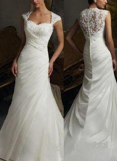 2013 New Cap Sleeves mermaid Bridal Wedding by Perfectdresses, $139.00