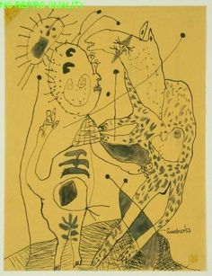 Lucebert: Kameelruiter, 1952