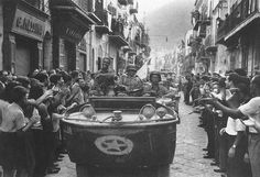 GI's enter Palermo in a Ford GPA 'Seep', 20 July 1943. This is a vehicle of 17th Engineer Battalion, 2nd Armored Division.