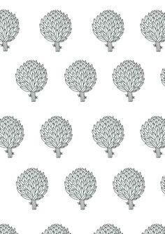 Artichokes. Surface pattern design by Ryn Frank www.rynfrank.co.uk