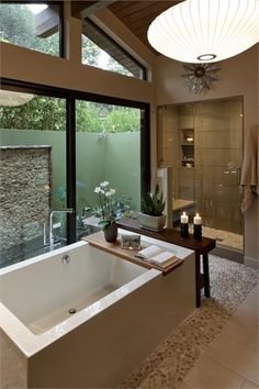 Relaxing Contemporary Bathroom by Susan Jay Freeman